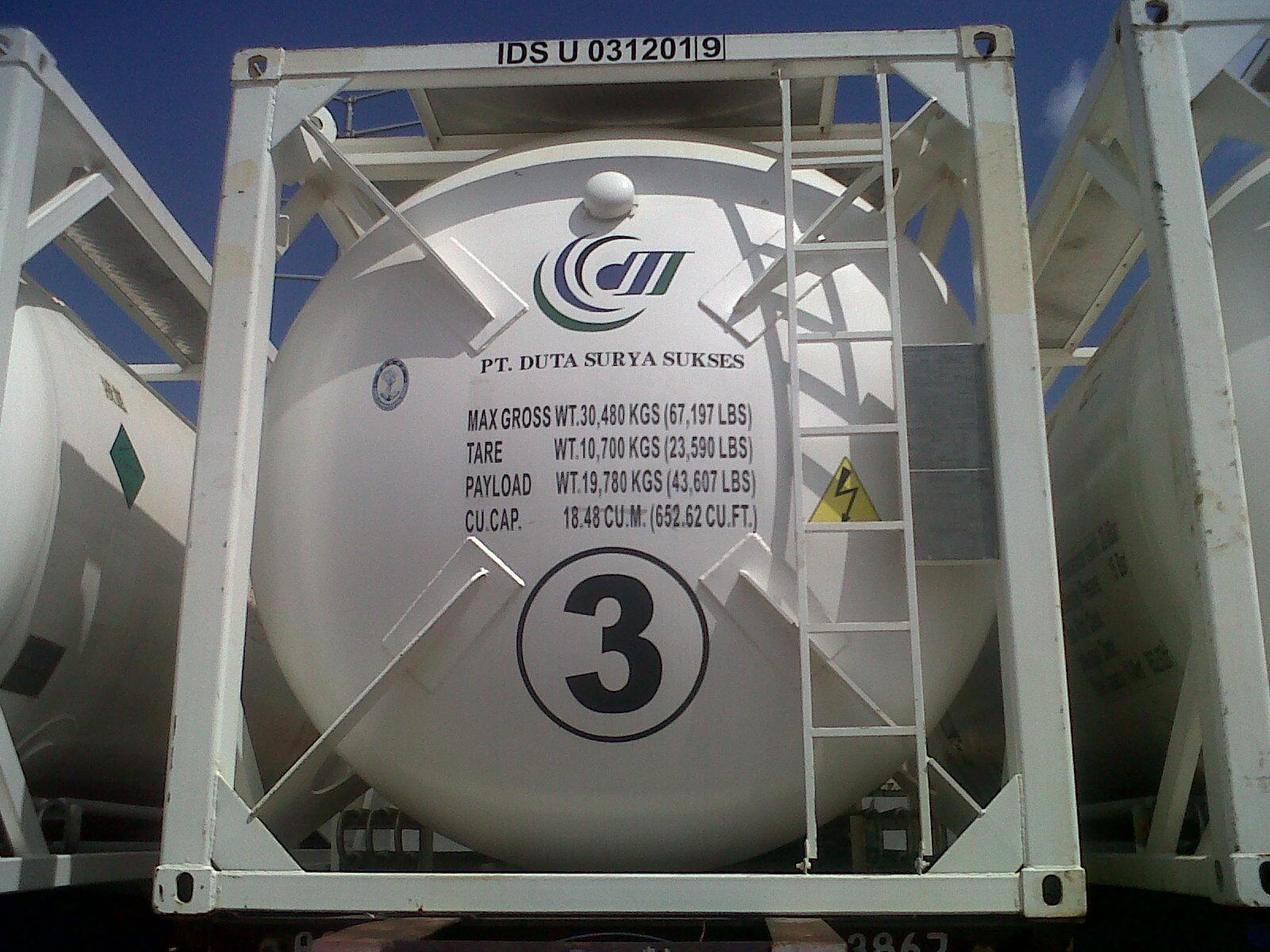 Storage Cryogenic cylinder liquid oxygen iso tank PT. Duta Surya Sukses at Batam
